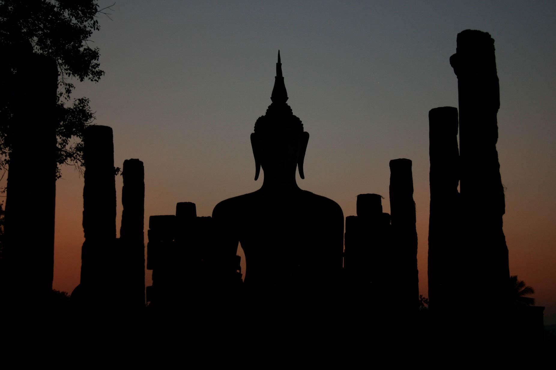 De Wat Mahathat tempel in Ayutthaya, Thailand. December 2009